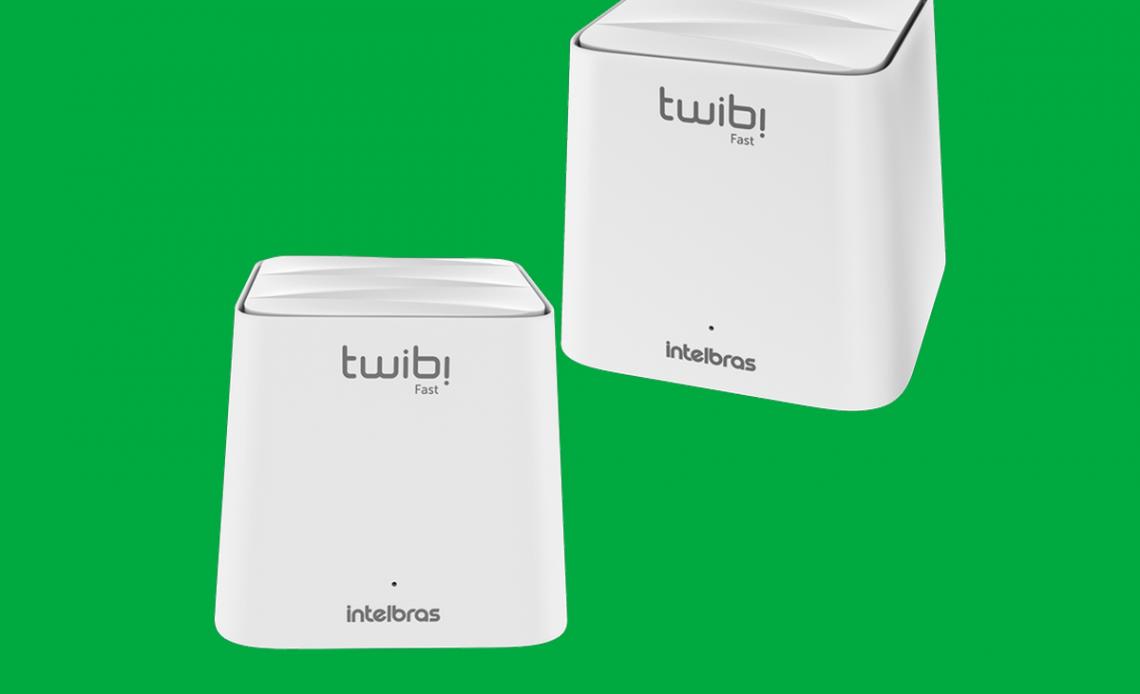 Conjunto com duas unidades do Roteador Wi-fi Twibi Fast