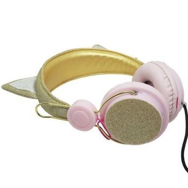 Headphone Orelha De Gato Com Glitter