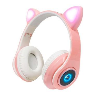 Presentes pessoas do signo de gêmeos: Fone Sem Fio Orelhas de Gato Headphone LED